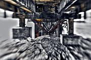 Tilt Shift Prints - Under the Boardwalk Print by Wenata Babkowski