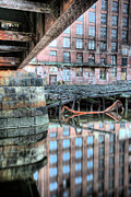 Charles River Photo Prints - Under the Bridge  Print by JC Findley