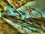 Graffiti Prints Prints - Under The Bridge Print by Steven Ainsworth