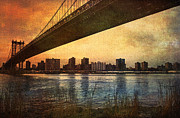 Sunset Digital Art Originals - Under the Bridge by Svetlana Sewell