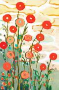 Peach Painting Prints - Under the Desert Sky Print by Jennifer Lommers
