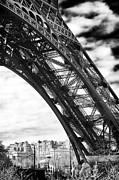 The Eiffel Tower Prints - Under the Eiffel tower Print by John Rizzuto