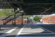Crosswalk Photos - Under The El by Frank Winters
