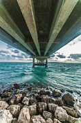Florida Bridge Photo Originals - Under the Islamorada Bridge by Dan Vidal
