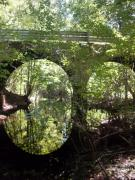 Florida Bridge Photo Originals - Under the Mill Creek Bridge by Warren Thompson