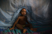Poor Countries Metal Prints - Under the Mosquito Net Metal Print by Irene Abdou