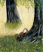 Wildlife Pastels - Under The Mossy Oak by Jan Amiss