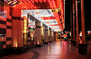Freemont Street Prints - Under the Neon Lights Print by John Rizzuto