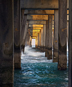 Florida Digital Art - Under the Pier at Sunset by Glennis Siverson