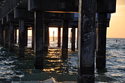 Pier Digital Art - Under the Pier by Bill Cannon