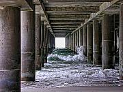 Ocean City Nj Prints - Under the Pier Print by Edward Sobuta