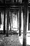 Ocean Mixed Media Metal Prints - Under The Pier Metal Print by Linda Woods