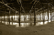 Wood Pylons Photos - Under the Pier by Micah May