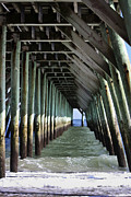 Under The Pier Print by Teresa Mucha