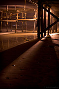 Clemente Photo Prints - Under the San Clemente Pier at Night Print by Richard Daugherty