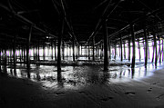 Wood Pylons Photos - Under the Santa Monica Pier by Micah May