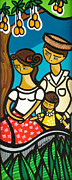 Puerto Rico Painting Posters - Under the Shade of the Mango Tree Poster by Mary Tere Perez