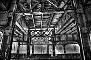 Rivets Framed Prints - Under the tracks Framed Print by Scott Norris