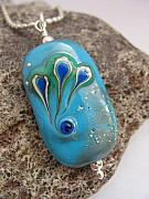 Space Jewelry - Under the Turquoise Sky Pendant by Kristy Kempinger