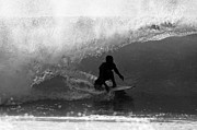 Surfer Photos - Undercover Black and White by Paul Topp
