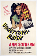 Undercover Framed Prints - Undercover Maisie, Ann Sothern, 1947 Framed Print by Everett