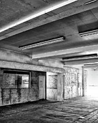 Gray Building Framed Prints - Underground BW Framed Print by William Dey