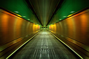 Stair-rail Framed Prints - Underground Heathrow Framed Print by Svetlana Sewell