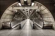 Escalator Metal Prints - Underground Life 02 Metal Print by Svetlana Sewell