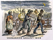 Underground Railroad Prints - Underground Railroad, 1838 Print by Granger
