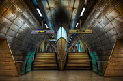 Staircase  Mixed Media Prints - Underground Ship Print by Svetlana Sewell