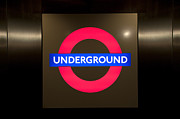 Stair-rail Prints - Underground sign Print by Svetlana Sewell