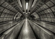 Tunnel Acrylic Prints - Underground Tunnel Acrylic Print by Vulture Labs