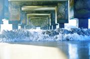 Seafoam Abstract Posters - Underneath Hanalei Pier Poster by Kicka Witte - Printscapes
