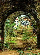 Street Pyrography Metal Prints - Underneath the Railway Arches Metal Print by C Lythgoe
