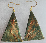 Hand Painted Jewelry - Undersea Treasures Earrings by Christiane Kingsley