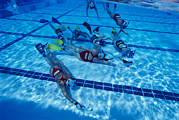 Hockey Player Prints - Underwater Hockey Print by Alexis Rosenfeld