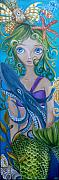 Underwater Fantasy Posters - Underwater Mermaid Poster by Jaz Higgins
