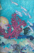 Marine Fish Tapestries - Textiles Prints - Underwater Splendor I Print by Denise Hoag