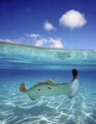 Tropical - Underwater Stingray 3 by Monica & Michael Sweet - Printscapes