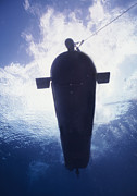 Submersible Posters - Underwater View Of A Mk-8 Mod-0 Seal Poster by Michael Wood