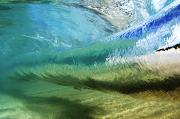 Wave Art Photos - Underwater Wave Curl by Vince Cavataio - Printscapes