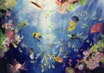 World Painting Framed Prints - Underwater World II Framed Print by Odile Kidd