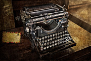 Typewriter Keys Photos - Underwood Typewriter by Susan Candelario