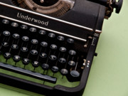 Typewriter Keys Photo Posters - Underwood Poster by Valerie Morrison