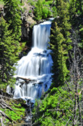 Photographic Art Metal Prints - Undine Falls Metal Print by Greg Norrell