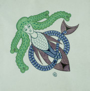 Celtic Knotwork Posters - Undine Poster by Ian Herriott