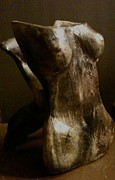 Female Sculpture Metal Prints - Undressed View 1 Metal Print by Holly Suzanne Filbert
