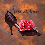 Library Digital Art - Une Rose De La Chaussure by Martin  Fry