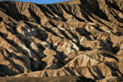Carved Prints - Unearthly world - Death Valleys badlands Print by Christine Till