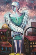 Jerusalem Paintings - Unemployed Angel by Elisheva Nesis